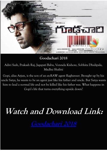 goodachari telugu movie 2018 torrent magnet