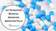 1st Trimester Medical Abortion_ Abortion Pills