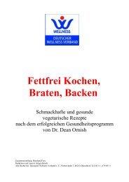Fettfrei Kochen, Braten, Backen - Deutscher Wellness Verband eV