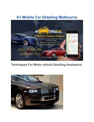 Mobile Car Detailing Melbourne pdf