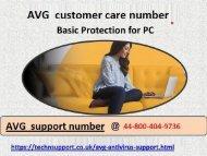 AVG  Helpline Number