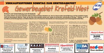 Verkaufsoffener Sonntag im Gewerbegebiet Krefeld-West  -05.10.2018-