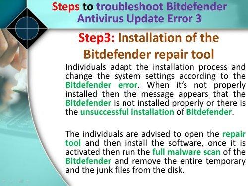 Fix Bitdefender Antivirus Update Error 3