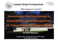Auswirkungen des Gärprozesses in Biogasanlagen auf ...