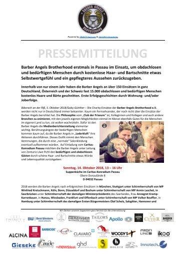 Pressemitteilung Barber Angels_Passau Oktober 2018