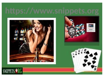 Latest Online Casino- Snippets