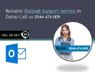 Reliable Outlook Support Service in Dubai