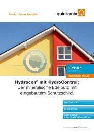 Hydrocon® mit HydroControl: Der mineralische Edelputz ... - Quick-Mix
