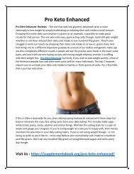Pro Keto Enhanced - Increasing Your Stamina Forn Longer Workout