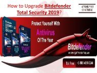 How to Upgrade Bitdefender Total Security 2019? Call: +1-888-688-8264