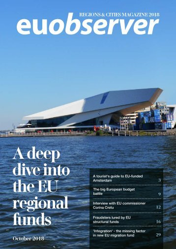Regions & Cities 2018: A deep dive into the EU regional funds