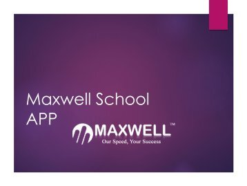 App For Schools To Communicate With Parents - Maxwell Global Software.com
