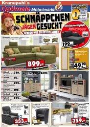 Kranepuhl's Optimale Möbelmärkte: Schnäppchenjäger gesucht!