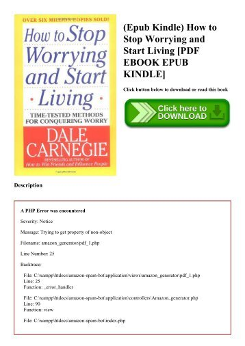 (Epub Kindle) How to Stop Worrying and Start Living [PDF EBOOK EPUB KINDLE]
