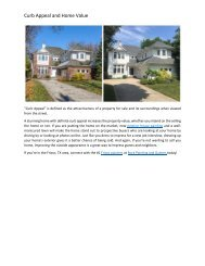 Curb Appeal and Home Value