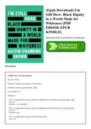 (Epub Download) I'm Still Here Black Dignity in a World Made for Whiteness [PDF EBOOK EPUB KINDLE]