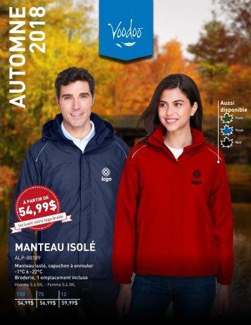 Catalogue d'Automne 2018