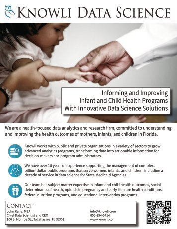 Knowli Data Science: Informing and Improving Infant Child Health