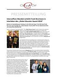 Pressemitteilung IC Mondial_Globe Educator Award 2018 für Frank Brormann