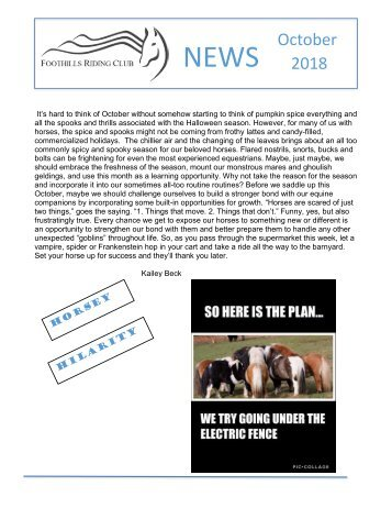October 2018 FRC Member Newsletter