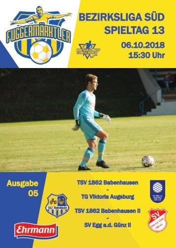 20181006 Fuggermärktler TSV 1862 Babenhausen – TG Viktoria Augsburg