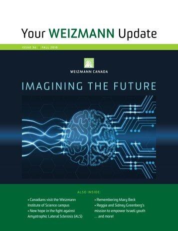 Your WEIZMANN Update - Fall 2018