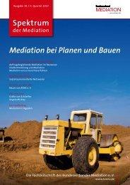 Spektrum Mediation bei Planen und Bauen - Bundesverband ...