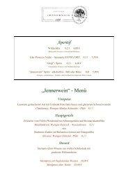 """""""Jennerwein"""" - Menü - Gasthaus Jennerwein"""