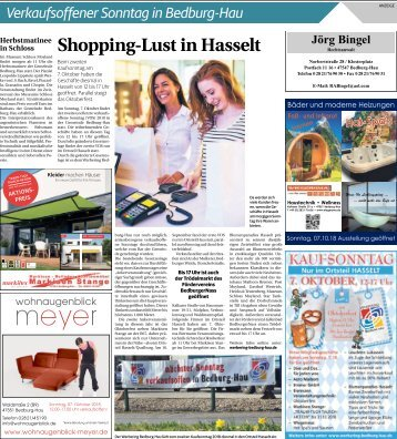 Verkaufsoffener Sonntag in Bedburg-Haus  -06.10.2018-