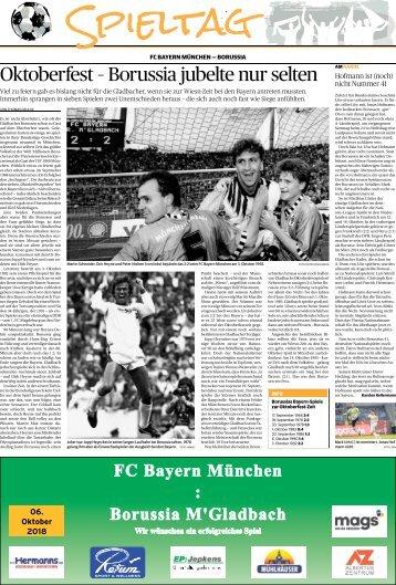 Spieltag: FC Bayern München - Borussia  -06.10.2018-