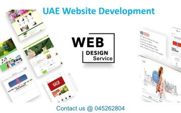 Professional Web Designing Agency in Dubai  Contact 045262804