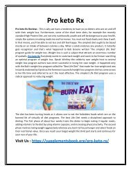 Pro keto Rx - Good and Blessed Formula To Reshape Your Body
