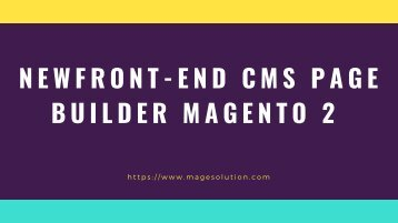 Front-end CMS Page for Magento 2