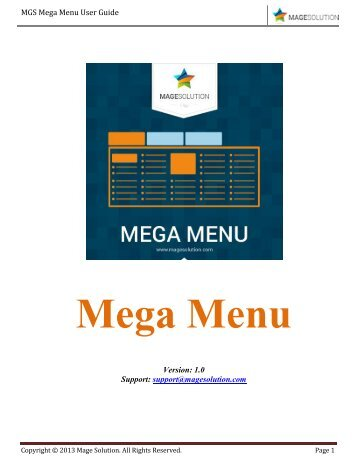 Mega Menu For Magento By Magesolution