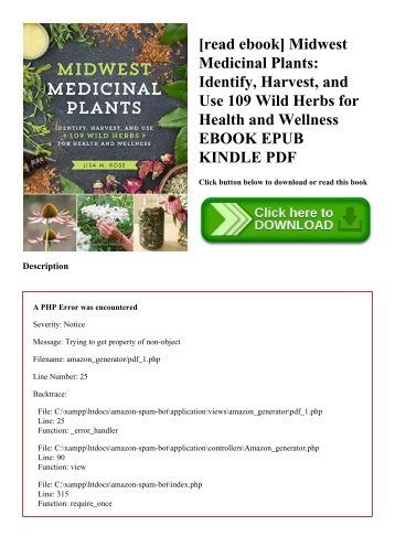 [read ebook] Midwest Medicinal Plants Identify  Harvest  and Use 109 Wild Herbs for Health and Wellness EBOOK EPUB KINDLE PDF