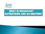 what is broadcast advertising and ad serving