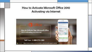 How to Activate Microsoft Office 2010 Activate via Microsoft Support Number