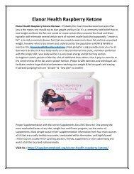 Elanor Health Raspberry Ketone