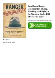 Read book Ranger Confidential Living  Working  and Dying in the National Parks PDF Ebook Full Series