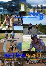 Ausgabe Nr. 112 Dezember 2010 - Velo-Club Reinach