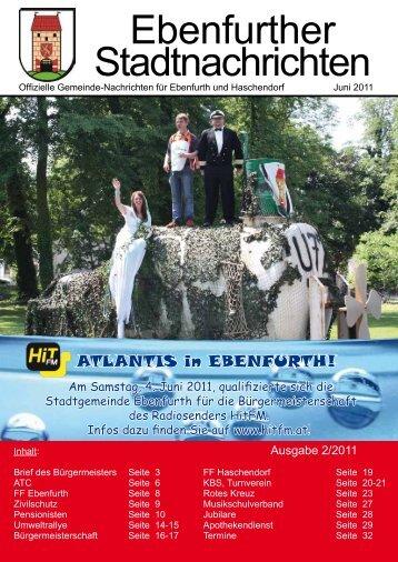 Ebenfurther Stadtnachrichten vom Juni 2011 - Stadtgemeinde ...