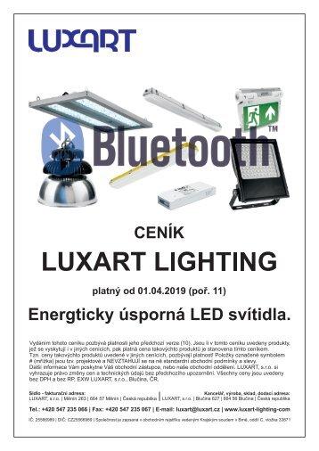 Ceník LUXART Lighting platný od 25.02.2019