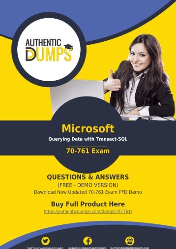 70-761 Braindumps - Start Your Career with New (2018) Microsoft 70-761 Dumps