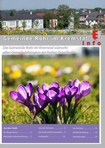 Gemeinde Rohr im Kremstal i n f o - Rohr im Kremstal - Land ...
