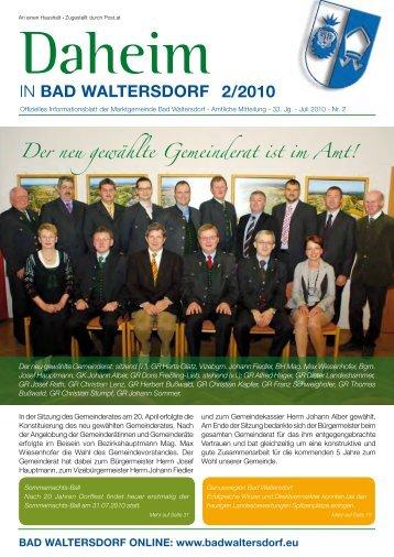 Ausgabe Juni 2010 - Gemeinde Bad Waltersdorf