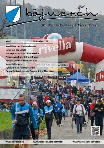 Das informative Monatsmagazin für Beinwil am See