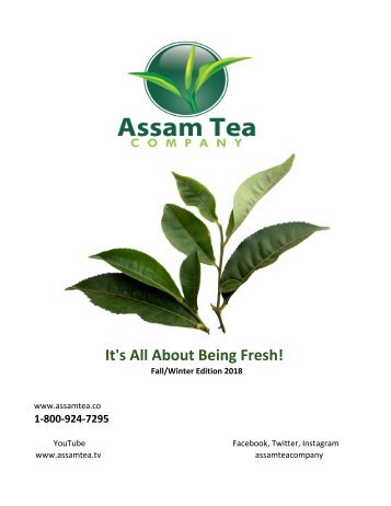 Assam Tea Co. 2018 Fall/Winter Catalog