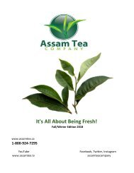 Assam Tea Co. 2018 Catalogue (Canada)