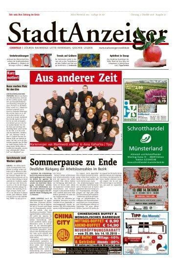 Stadtanzeiger Coesfeld kw 40