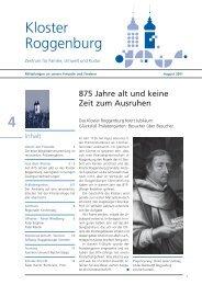 Ausgabe Nr. 04, August 2001 - Kloster Roggenburg